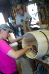 Making barrels - historic village of Shellburne, Nova Scotia, Canada - photo by D.Smith