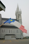 Canada 422 Acadian flags in the Meteghan, Acadian region of Nova Scotia, Canada - photo by D.Smith