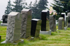 Canada 426 Tombstones in a graveyard in the Acadian region of Nova Scotia, Canada - photo by D.Smith