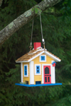 Canada 454 Close-up of a colourful birdhouse in historic Mahone Bay, Nova Scotia, Canada - photo by D.Smith