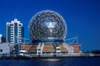 Canada / Kanada - Vancouver: Science World in False Creek - dome - photo by D.Smith