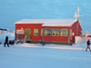 Fort Good Hope, Northwest Territories, Canada: Canadian building in snowy winter - photo by Air West Coast