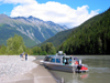 Skitine river, BC, Canada: tour boats - photo by R.Eime