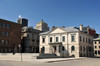 Montreal, Quebec, Canada: Old Customs House - Ancienne-Douane, part of the Montreal Museum of Archaeology, Pointe-�-Calli�re complex - architect John Ostell - Place Royale from Rue de La Commune Ouest - Vieux-Montr�al - photo by M.Torres