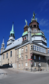 Montreal, Quebec, Canada: Our Lady of Good Help chapel - chapelle Notre-Dame-de-Bon-Secours - seen from Rue de La Commune Est, at the intersection with Rue Bonsecours - Vieux-Montr�al - photo by M.Torres