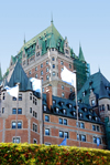 Quebec City, Quebec: Château Frontenac grand hotel - château style by architect Bruce Price, built for the Canadian Pacific Railway - photo by B.Cain