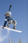 Kamloops, BC, Canada: snowboarder at Sun Peaks ski resort - model and property released - photo by D.Smith