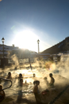 Kamloops, BC, Canada: Hot tub activities in winter - Sun Peaks ski resort - photo by D.Smith