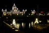 Victoria, BC, Canada: BC Legislature Parliament Buildings and harbour - nocturnal view - architect Francis Rattenbury - photo by D.Smith