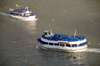 Niagara Falls, Ontario, Canada: Maid of the Mist VII meets Maid of the Mist V - Niagara river - tour boats in the Niagara Gorge - photo by M.Torres