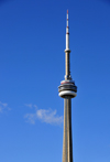 Toronto, Ontario, Canada: CN Tower - the tallest free-standing structure in the Americas - 553.33 metres tall communications and observation tower built by the Canadian National Railway - photo by M.Torres