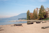 Canada / Kanada - Vancouver: Logs on the beach - English bay - photo by M.Torres