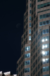 Toronto, Ontario, Canada: Brookfield Place - TD Canada Trust Tower - moon and windows - Financial District - photo by M.Torres