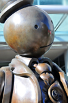 Toronto, Ontario, Canada: detail of the 'Immigrant Family' - broze sculpture by Tom Otterness - photo by M.Torres