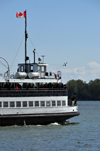 Toronto, Ontario, Canada: ferry linking the waterfront to the Toronto Islands - operated by the Parks, Forestry and Recreation Division of the City of Toronto - photo by M.Torres