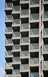Toronto, Ontario, Canada: Number One York Quay - balconies - cubism in architecture - condominium buildings on the Toronto waterfront - photo by M.Torres