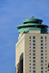 Winnipeg, Manitoba, Canada: Fort Garry Place III - the 'UFO' is a revolving restaurant - Fort Street - MMP Architects - River Heights-Fort Garry - City Centre - photo by M.Torres