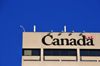 Winnipeg, Manitoba, Canada: 'Canada' sign - top of the Canadian Grain Commission Building - Main Street - photo by M.Torres