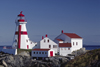Campobello Island, New Brunswick, Canada: East Quoddy Head Lighthouse is painted with the Cross of St. George - English flag motive - photo by C.Lovell