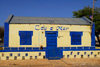 Palmeira, Sal island / Ilha do Sal - Cape Verde / Cabo Verde: colorful building - 'C�u e Mar' handicraft shop by the harbour - photo by E.Petitalot