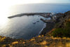 S�o Filipe, Fogo island - Cape Verde / Cabo Verde: harbour seen from above - photo by E.Petitalot