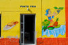 S�o Filipe, Fogo island - Cape Verde / Cabo Verde: painting on a restaurant wall - 'Ponto Frio' - photo by E.Petitalot