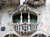 Barcelona, Catalonia: balcony of Casa Comalat, Avinguda Diagonal - architect  Salvador Valeri i Pupurull - art nouveau - photo by M.Torres