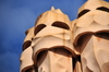 Barcelona, Catalonia: set of chimneys of Casa Milà, La Pedrera, by Gaudi - UNESCO World Heritage Site - photo by M.Torres