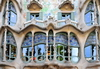 Barcelona, Catalonia: balconies at Casa Battló aka Casa dels ossos, by Antoni Gaudí, Unesco World Heritage Site - Passeig de Gràcia, Illa de la Discòrdia - photo by M.Torres