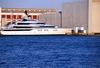 Barcelona, Catalonia: super-yacht moored in the Port Vell - photo by M.Torres