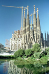 Catalonia - Barcelona: Sagrada Familia and the park - the Nativity façade - architect Antoni Gaudí - photo by J.Kaman