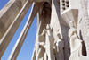 Catalonia - Barcelona: details of statues by Josep Maria Subirachs - Sagrada Familia cathedral - the Passion fa�ade - photo by M.Bergsma