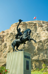 Arica, Chile: Bernardo O'Higgins statue - independence leader, 2nd Supreme Director of Chile | estatua de Bernardo O'Higgins - militar chileno - primer Jefe de Estado de Chile independiente - 2� Director Supremo de Chile - photo by D.Smith