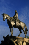 Valpara�so, Chile: statue of hero and country founder Bernardo O'Higgins mounted on a horse- photo by C.Lovell