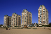 Vi�a Del Mar, Valpara�so region, Chile: apartment blocks along the beach - photo by C.Lovell