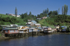 Castro, Chiloé island, Los Lagos Region, Chile: living over the water - 'palafitos', traditional houses on stilts on the Castro fjord - Archipiélago de Chiloé - photo by C.Lovell