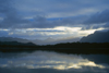 Ais�n region, Chile: sky reflected on the Palena River - temperate rain forest of northern Patagonia west of La Junta - photo by C.Lovell