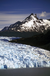 Torres del Paine National Park, Magallanes region, Chile: peaks and glacier head - the massive wall of ice that is Grey Glacier ends at Grey Lake - Chilean Patagonia - photo by C.Lovell