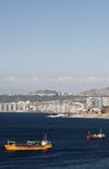 Valpara�so, Chile: harbour view - the Amatista - photo by P.Jolivet
