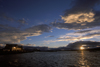 Puerto Natales, Magallanes region, Chile: sunset over the bay � Seno �ltima Esperanza - Chilean Patagonia - photo by C.Lovell