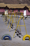 Putre, Arica and Parinacota region, Chile: Chilean school with swings in the Aymara village of Putre - Northern Chile - photo by C.Lovell