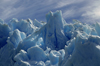 Torres del Paine National Park, Magallanes region, Chile: fluted ice sculptures - ice texture of the massive Grey Glacier - Chilean Patagonia - photo by C.Lovell