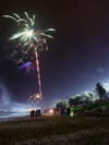 China - Hainan Island: fireworks and palmtrees - Chinese New year - Spring Festival (photo by G.Friedman)