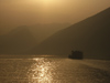 210 China - Chongqing municipality - Yangtze / Chang Jiang River: boat at sunset (photo by M.Samper)