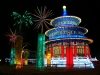 Beijing / Peking, China: Neon Temple - Lantern Festival - Chao Yang Park - photo by G.Friedman