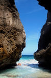27 Christmas Island: Greta Beach rock boulders (photo by B.Cain)