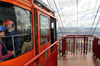 Bogota, Colombia: Monserrate cable car waits for the last passenger - cableway system designed by the swiss company Von Roll - Monserrate Hill - Telef�rico a Monserrate - Santa Fe - photo by M.Torres