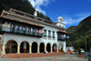 Bogota, Colombia: Monserrate cable car terminal - base of Monserrate Hill - Santa Fe - photo by M.Torres