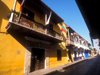 Colombia - Cartagena: street in the old city - photo by D.Forman