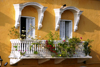 Cartagena, Colombia: colonial balcony with flowers - photo by Cpt. Theodor